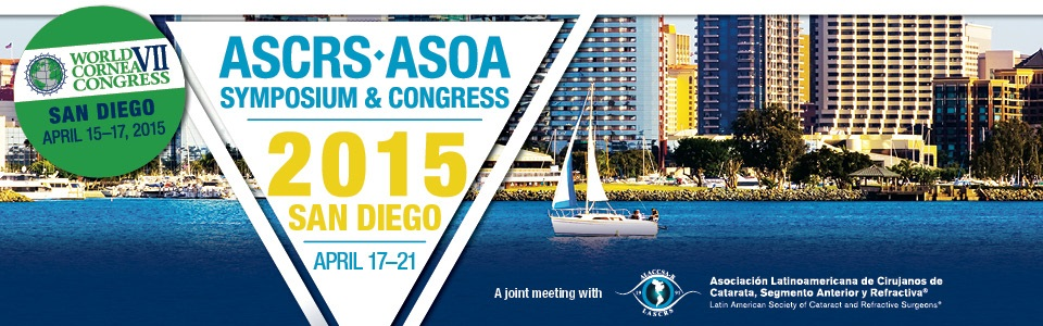 2015 ASCRS ASOA Symposium and Congress: http://www.ascrs.org